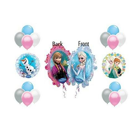 Disney Elsa Frozen Balloon 19 Piece Decoration Set - Anna, Elsa, Olsa