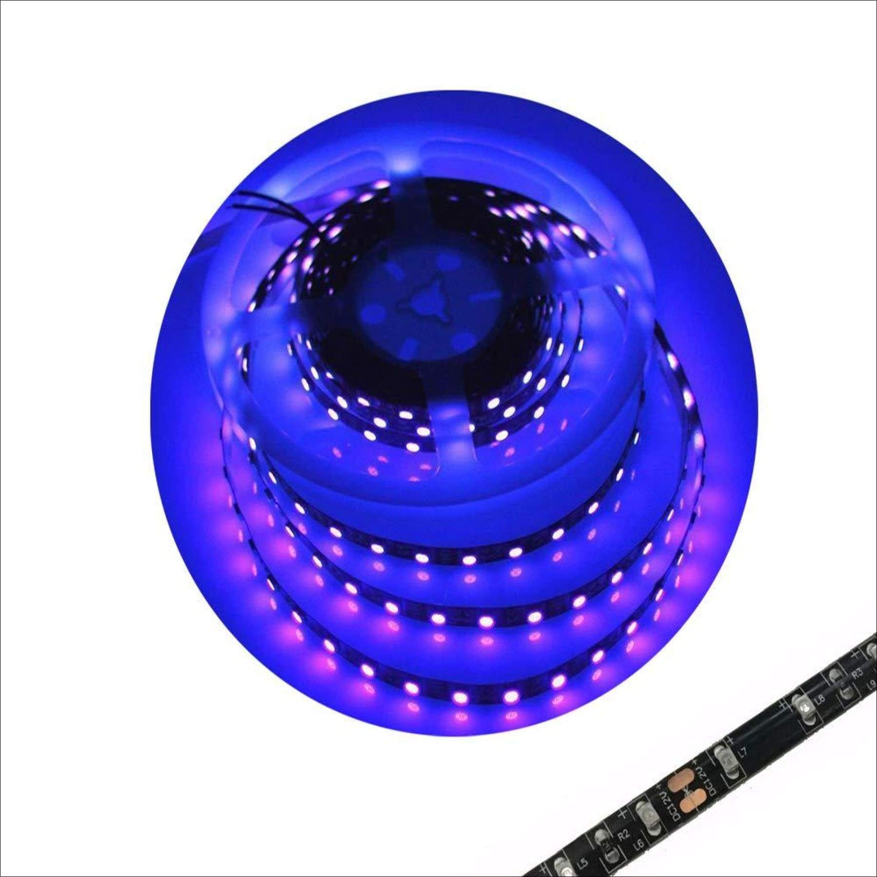 blue LED Strip Light Night Fishing Ultraviolet Boat white PCB 16 ft