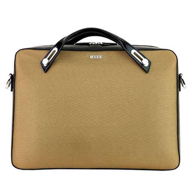 Abbi New York Whitney Nylon Briefcase, Gold
