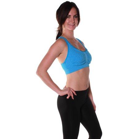 62fb3f4511 Emmalise - Emmalise Athletic Performance Exercise Sports Bra with Crossover  Back Top - Walmart.com