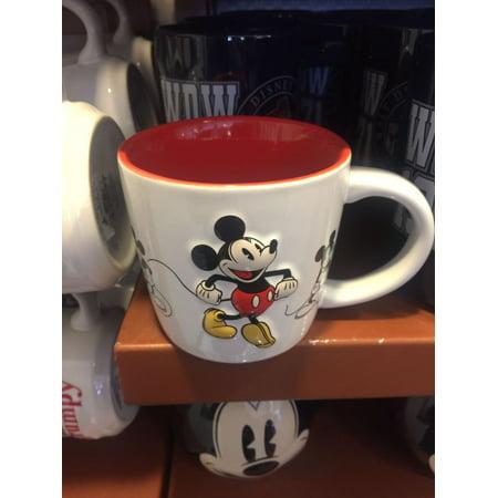Disney Parks Mickey Mouse Retro 3D Ceramic Mug New