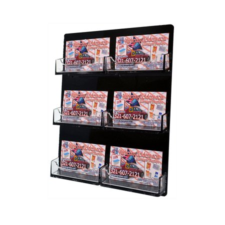 Marketing holder black 6 pocket wall mount business card holder marketing holder black 6 pocket wall mount business card holder hanging clear pockets overall size colourmoves Images