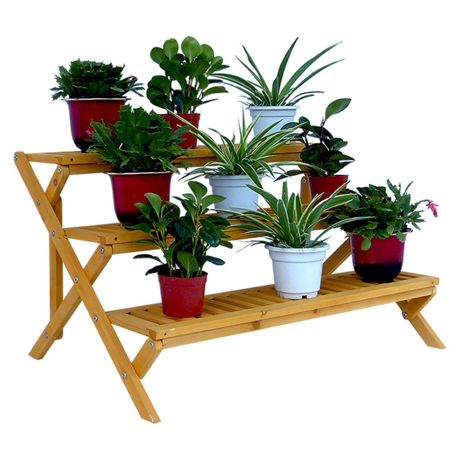 Leisure Season 3 Tier Step Plant Stand by Leisure Season Ltd