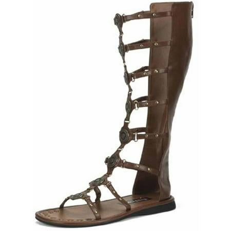 Roman Brown Sandals Men's Adult Halloween Costume Accessory (Roman Goddess Halloween Makeup)