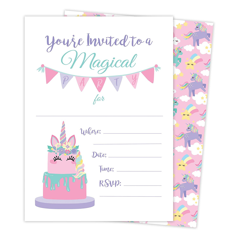 Image result for unicorn invitation cards