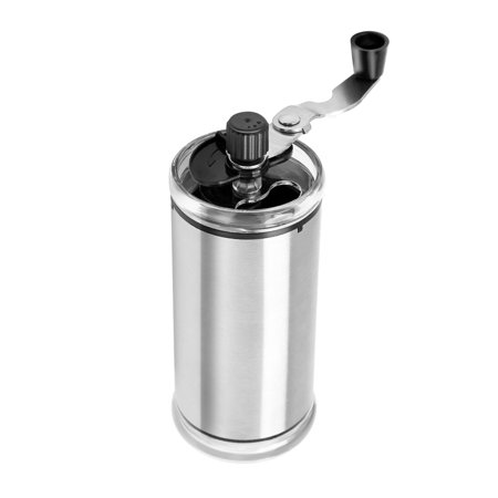 Portable Manual Coffee Grinder with Adjustable Setting Silver (Coffee Grinder With Settings)