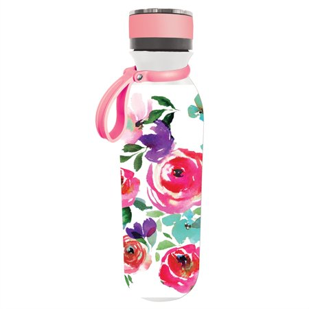 Double Wall 20 OZ Stainless Steel Refresh Traveler, Boho Floral Party (Steel Traveler Case)