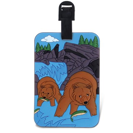 Puzzled, Inc. Luggage Tags Grizzly Luggage Tags Grizzly