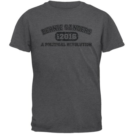 Bernie Sanders Revolution University 2016 Dark Heather Adult T Shirt