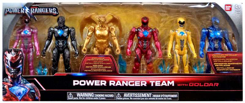 Power Rangers Movie Power Ranger Team Action Figure 6-Pack [with Goldar] by Ban Dai