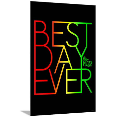Mac Miller - Best Day Ever Wood Mounted Poster Wall