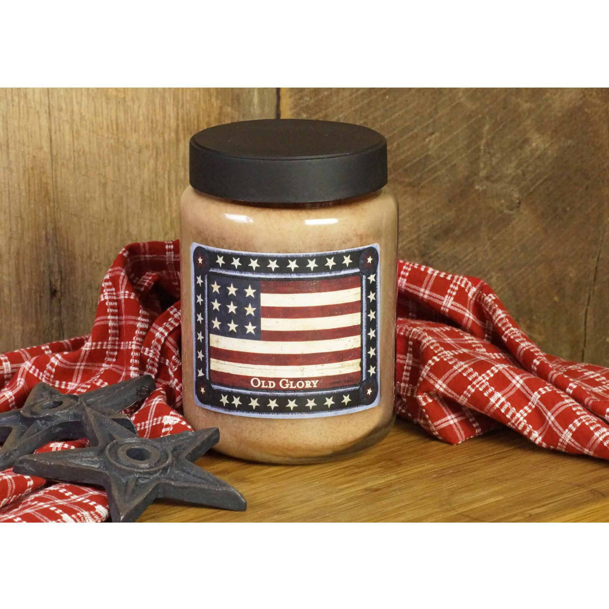 LANG Old Glory 26-Ounce Jar Candle, Scented with Sweet Raisins, Vanilla and a Pinch of Clove