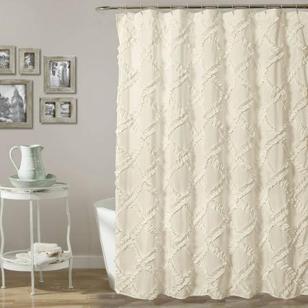 Ruffle Diamond Shower Curtain 72 x