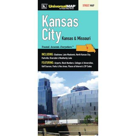 Universal Map Kansas City Fold Map  Set Of 2