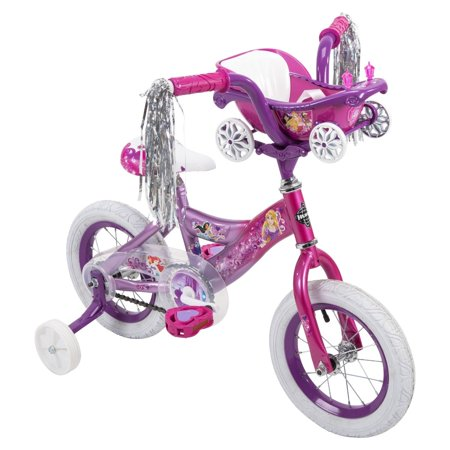 Huffy 12-Inch Disney Princess Bike with Training Wheels for Ages 3 to 5, Pink