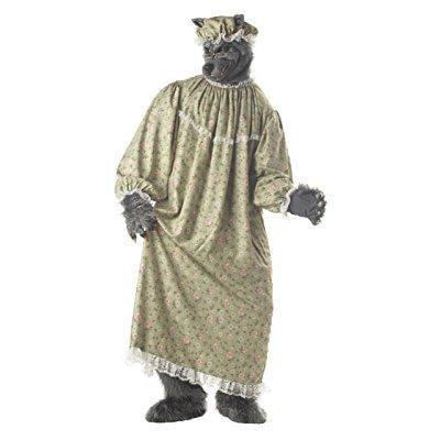 Granny Wolf (california costumes men's wolf granny costume,green,one)