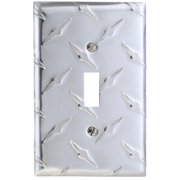Elumina Garage Diamond Cut Design Wallplate, Toggle