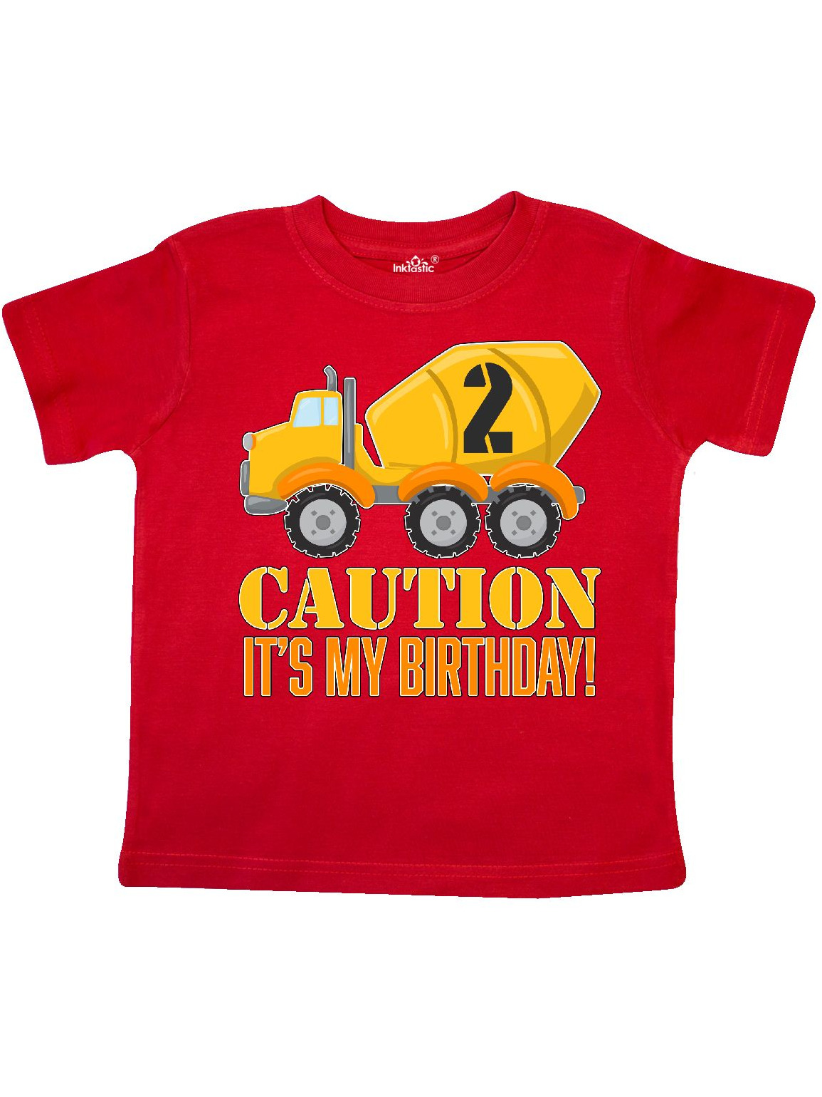 2nd birthday construction truck, cement mixer - 2 years old Toddler T-Shirt