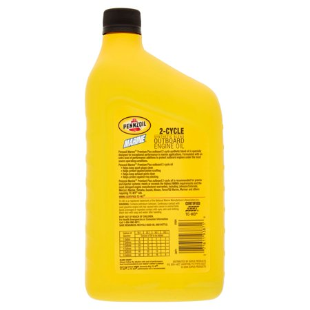 Pennzoil marine tc w3 premium plus ob 2 cycle motor oil 1 for Best outboard motor warranty