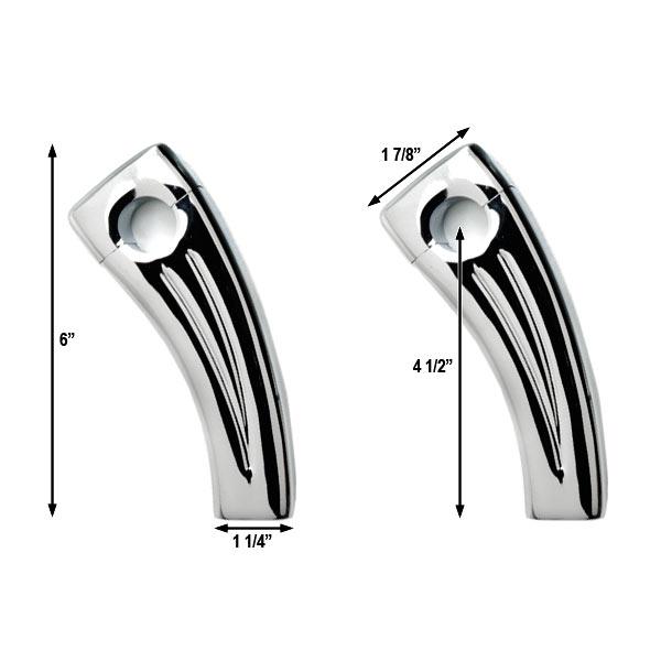 "4.5"" Chrome Bike Handlebar Pullback Risers 7/8"" For Suzuki GV GZ 250 1200 1400 Madura Cavalcade - image 2 de 4"