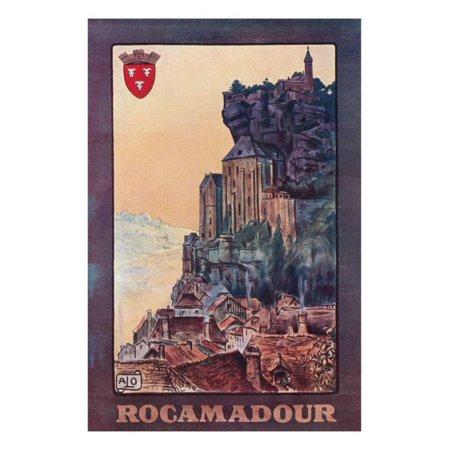 Rocamadour, France - Vintage Travel Postcard, c.1921 Print Wall Art By Lantern - Halloween Postcards Vintage For Sale