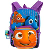 """disney finding dory 16"""""""" full size backpack w/ detachable lunch bag"""