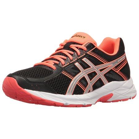 ASICS Women's Gel-Contend 4 Black/Silver/Flash Coral Running Shoe 6M