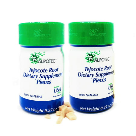2 PACK Alipotec Raiz de Tejocote Root - 180 Day (6 Month Total) Supply