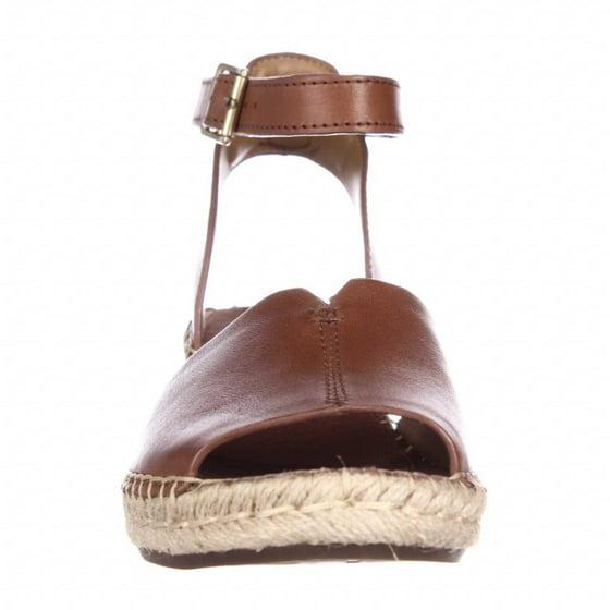 0571507007f Womens Clarks Petrina Selma Wedge Ankle Strap Espadrille Sandals, Nutmeg