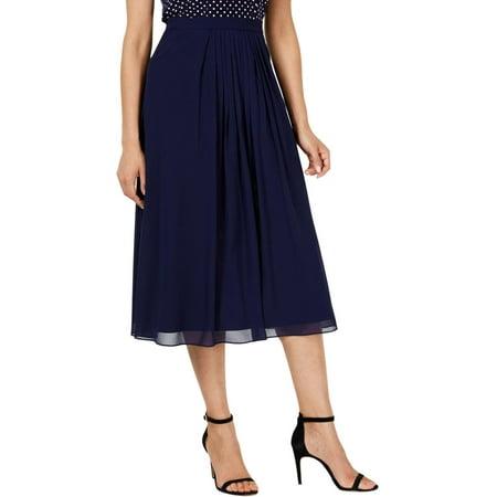 Anne Klein Womens Pleated Long Midi Skirt