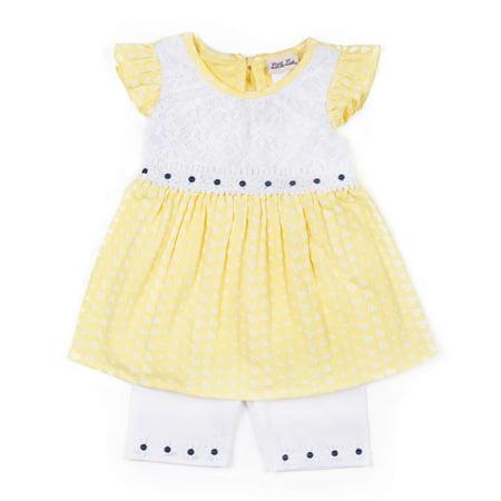 Flutter Sleeve Babydoll Top & Bike Shorts, 2-Piece Outfit Set (Toddler Girls) for $<!---->