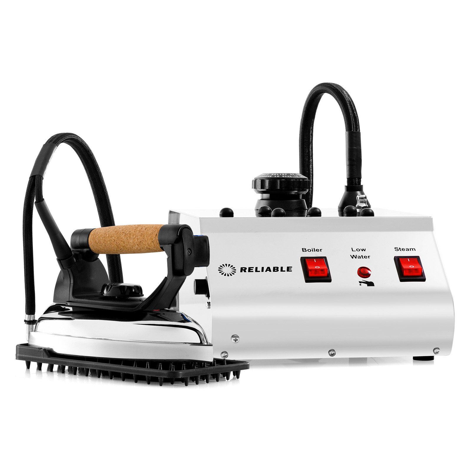 Reliable Professional Steam Ironing Station,2 hrs/.375 Gallon. Made in Italy, Chrome, 4000IS