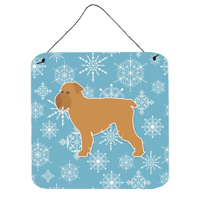 Carolines Treasures BB3540DS66 Winter Snowflake Brussels Griffon Wall or Door Hanging Prints - image 1 de 1