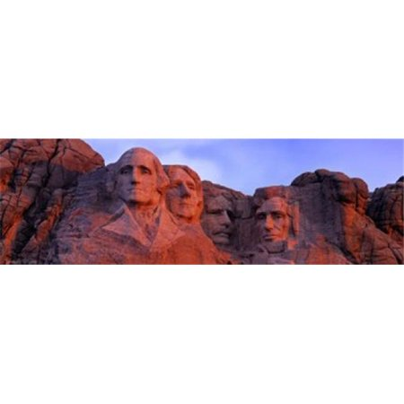 Panoramic Images PPI89450S Low Angle View of A Monument Mt Rushmore National Monument Rapid City South Dakota USA Poster Print, 18 x 6 ()