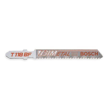 Jigsaw Blade,T-Shank,3-5/8 In. L,PK5 BOSCH T118B