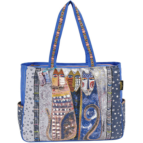 Laurel Burch Shoulder Tote with Zipper Top
