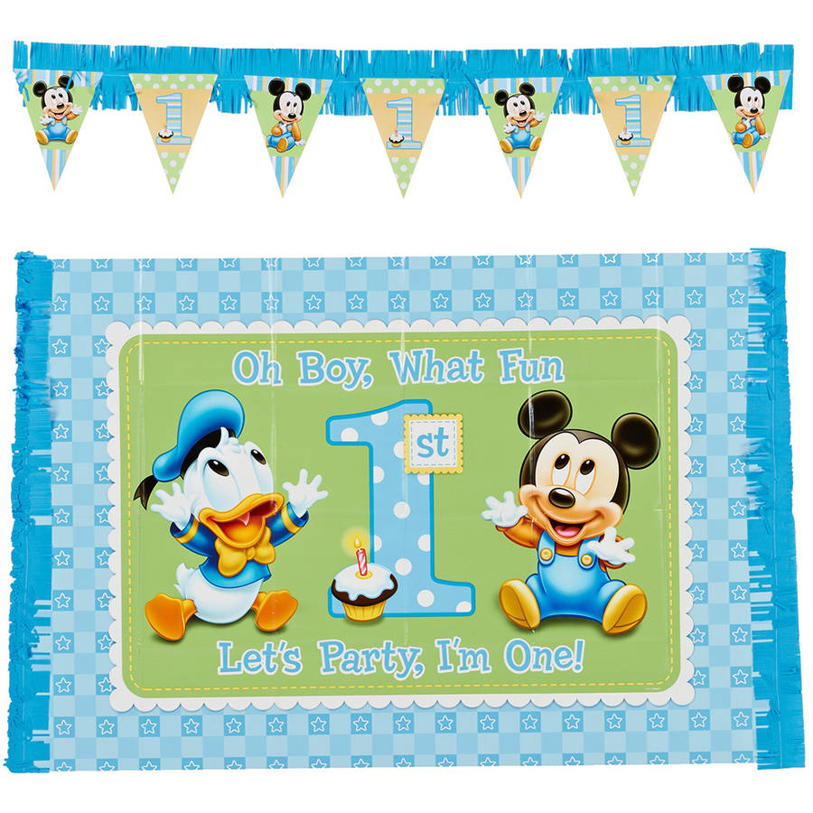 Mickey Mouse First Birthday High Chair Decorating Kit, Party ...