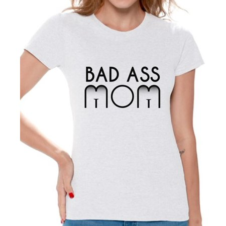 Awkward Styles Womens Bad Ass Mom Funny Graphic T Shirt Tops