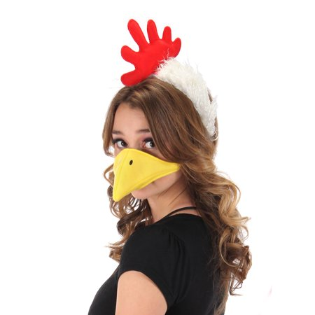 elope Chicken Costume Plush Headband with and Beak Kit - Chicken Costume