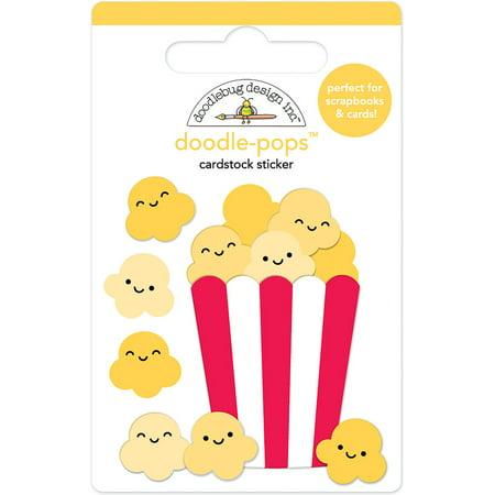 Doodlebug Doodle-Pops 3D Stickers-What's Poppin' Doodlebug Design Cardstock Stickers