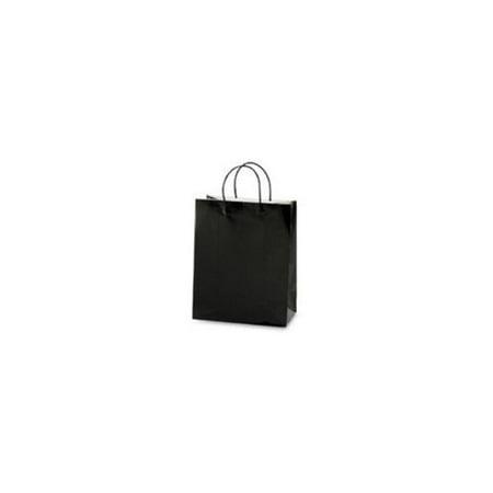 Black Euro Medium Gift Bag Case Pack 60 - Black Gift Bags