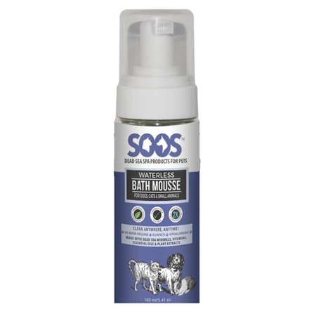 Soos Pets SP02004 Natural Dead Sea Hypoallergenic Waterless Pet Bath Mousse For Dogs, Cats & Small