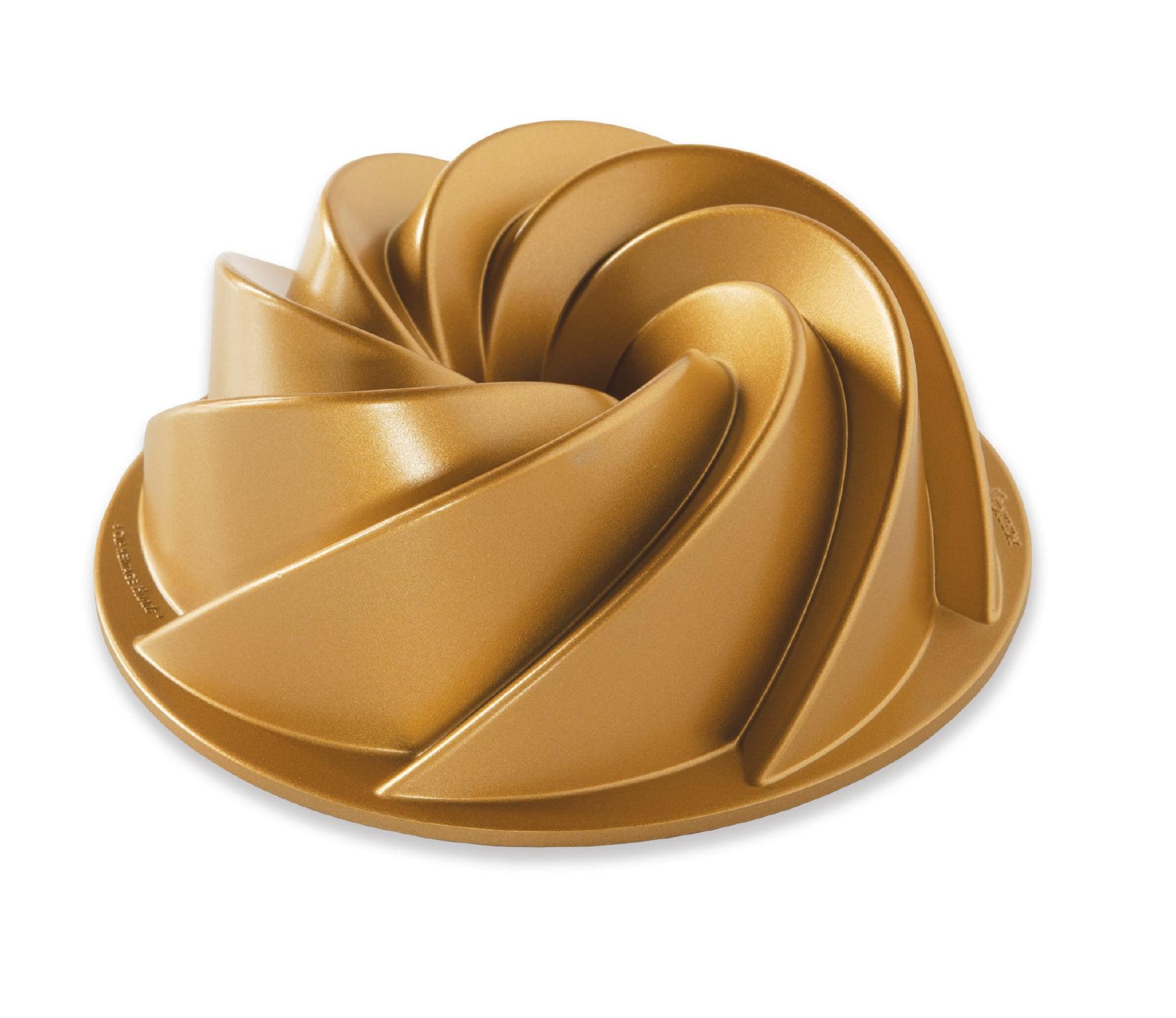 Nordic Ware 90077 Heritage Bundt Pan, Gold by Nordic Ware