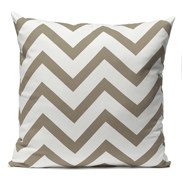 Asewin Stripe Zig Zag Pillowcase, Linen Cotton Square Shaped Decorative Pillowslip... by