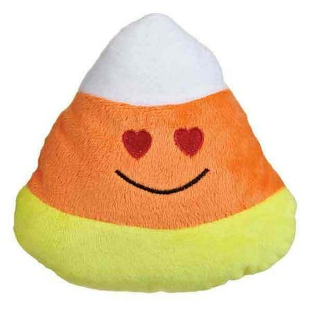 Eye Heart Sf Halloween (Emoji Candy Corn Dog Toys Funny Face Halloween Plush 6