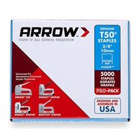 Arrow Genuine T50 Staples, 10mm, 1250 Count Box