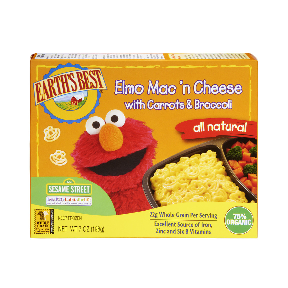 Earth's Best Elmo Mac 'N Cheese with Carrots & Broccolli Frozen Entree, 7.0 OZ