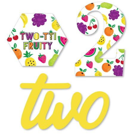 2nd Birthday TWO-tti Fruity - DIY Shaped Frutti Summer Second Birthday Party Cut-Outs - 24 Count