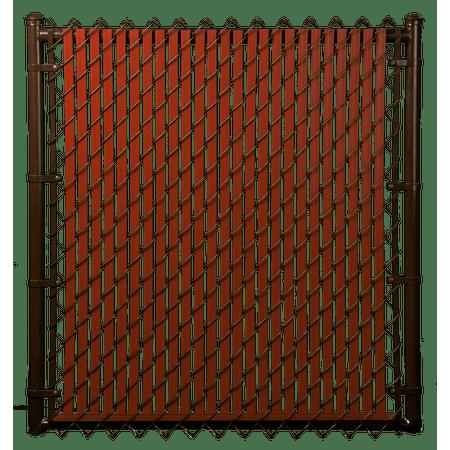 Slat Depot⢠Redwood 4ft Tube Slat for Chain Link Fence