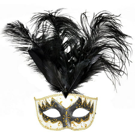 Big Feather Adult Carnival Mask Accessory - Simple Carnival Costumes